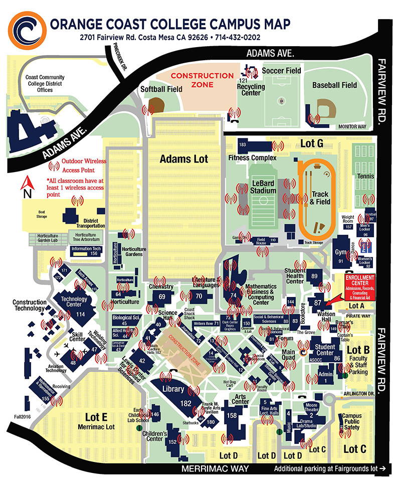 Orange Coast College Campus Map : orange, coast, college, campus, Orange, Coast, College, Campus, Maping, Resources