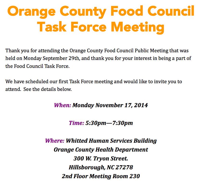 Task Force Meeting Invitation