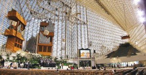 Crystal (Christ) Cathedral in Garden Grove.