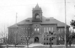 Santa Ana High before the 1933 quake.
