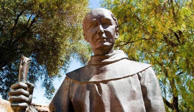 Statue of Junipero Serra at the Mission of San Juan Batista (Flickr Creative Commons).