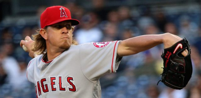 JERED WEAVER gave up four home runs as the Angels lost 7-0 to the Yankees Saturday (Flickr/Arturo Pardavila III).