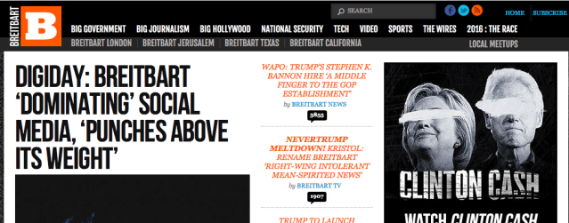 NEW HEAD of the Donald Trump presidential campaign is the operator of Breitbart.com .