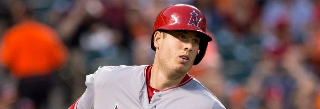 C.J. CRON doubled and scored in the Angels' 4-1 loss Sunday night (Flickr/Keith Allison).