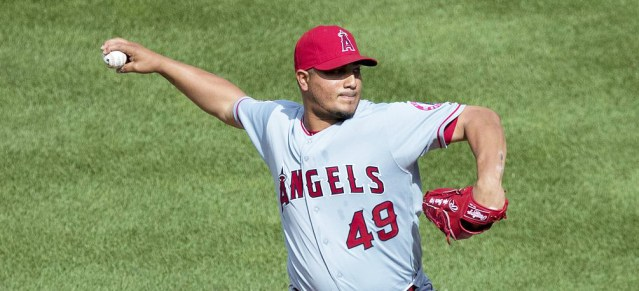 JHOULYS CHACIN pitched well in the Angels' 3-2 win over the Tigers in Detroit Saturday (Flickr/Keith Allison).