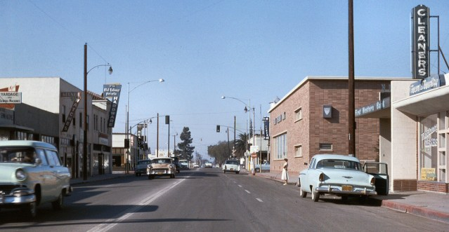DOWNTOWN Garden Grove in the late 1950s. View is on Garden Grove Boulevard looking west toward what is now Main Street (Orange County Archives0.