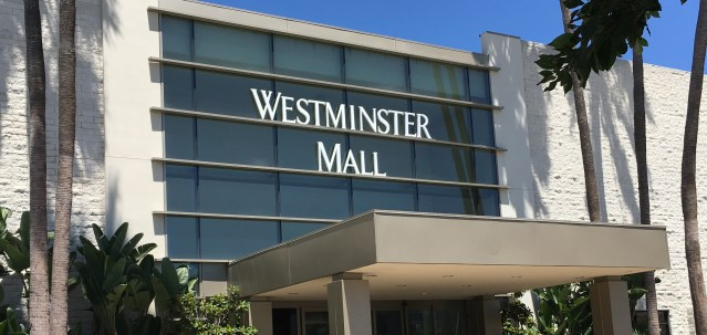 WESTMINSTER MALL is located at Goldenest Street and Bolsa Avenue in Westminster (OC Tribune photo).
