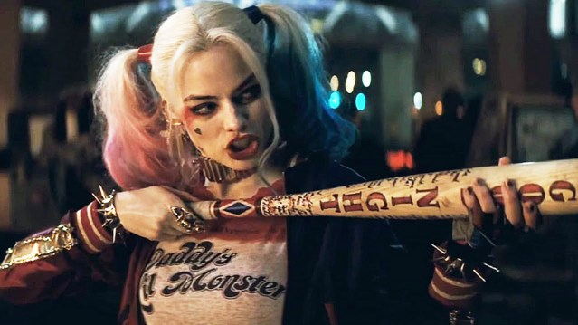 "MARGOT ROBBIE as Harley Quinn steals the show from other crooks in ""Suicide Squad."""