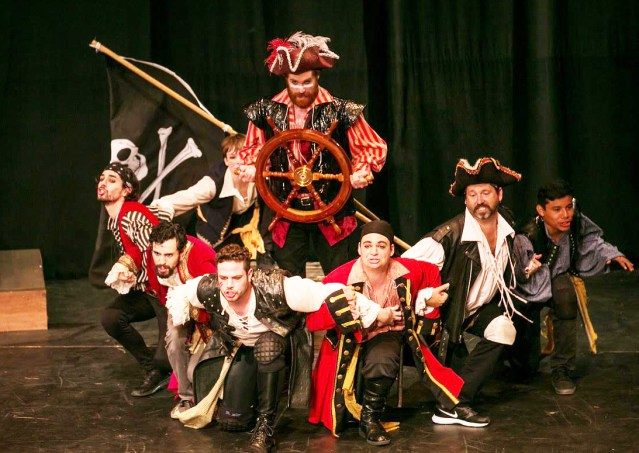 """""""PIRATES OF PENZANCE"""" is one of the popular plays staged by Shakespeare Orange County at the Festival Amphitheatre in Garden Grove (SOC photo)."""