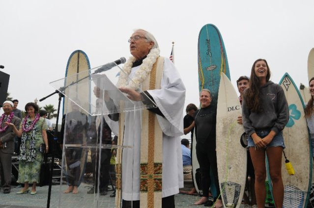 THE BLESSING OF the Waves ceremony will be held on Sunday, Sept. 18 at the Pier Plaza in Huntington Beach.