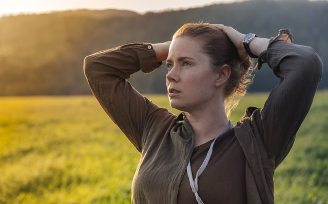 """AMY ADAMS stars in """"Arrival,"""" a sci-fi film about mysterious aliens who suddenly appear in the sky."""