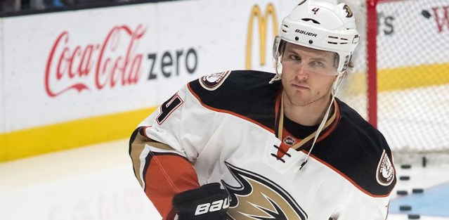 CAM FOWLER had the only goal scored by the Anaheim Ducks in their 5-1 loss to Pittsburgh Wednesday (Wikipedia photo).