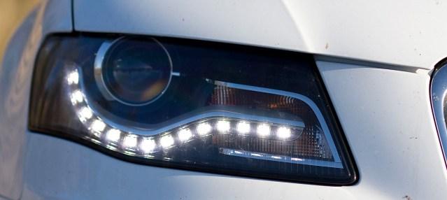 LEDs used in daytime running lights on an Audi sedan (Wikipedia photo).