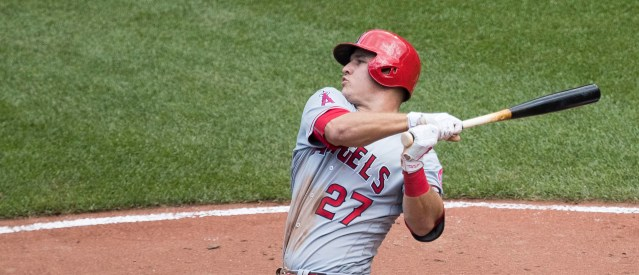 MIKE TROUT of the Los Angels of Anaheim was named MVP of the American League Thursday  for the second time in three years.