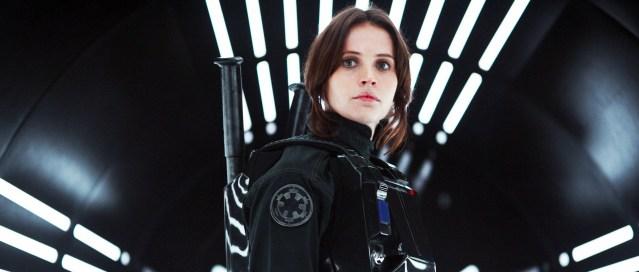 "FELICITY JONES stars in ""Rogue One: A Star Wars Story."""