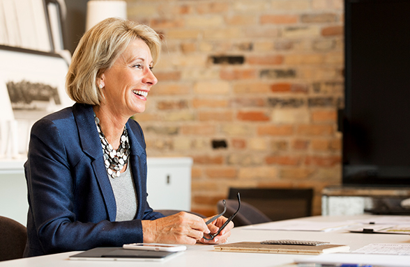 """ELISABETH """"Betsy"""" DeVos was approved Tuesday morning by the U.S. Senate as the new Secretary of Education. Vice President Mike Pence cast the deciding vote after the full Senate deadlocked at 50-50 (BVD.com photo)."""