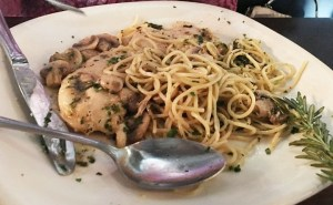 GREAT chicken, fish veal, beef, pasta and other dishes are on the menu at Capone's (OC Tribune photo).