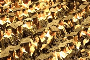 file photo from a past Amity Graduation
