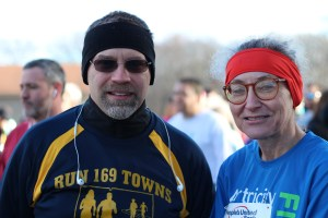 Dennis Marsh and Denise Stein during the 2016 Chilly Chili Run