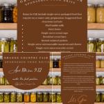 Orange Country Fair Committee Sponsors Food Drive on Saturday
