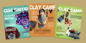 Magazine design for the Northwest Polymer Clay Guild Clay Camp annual ezines