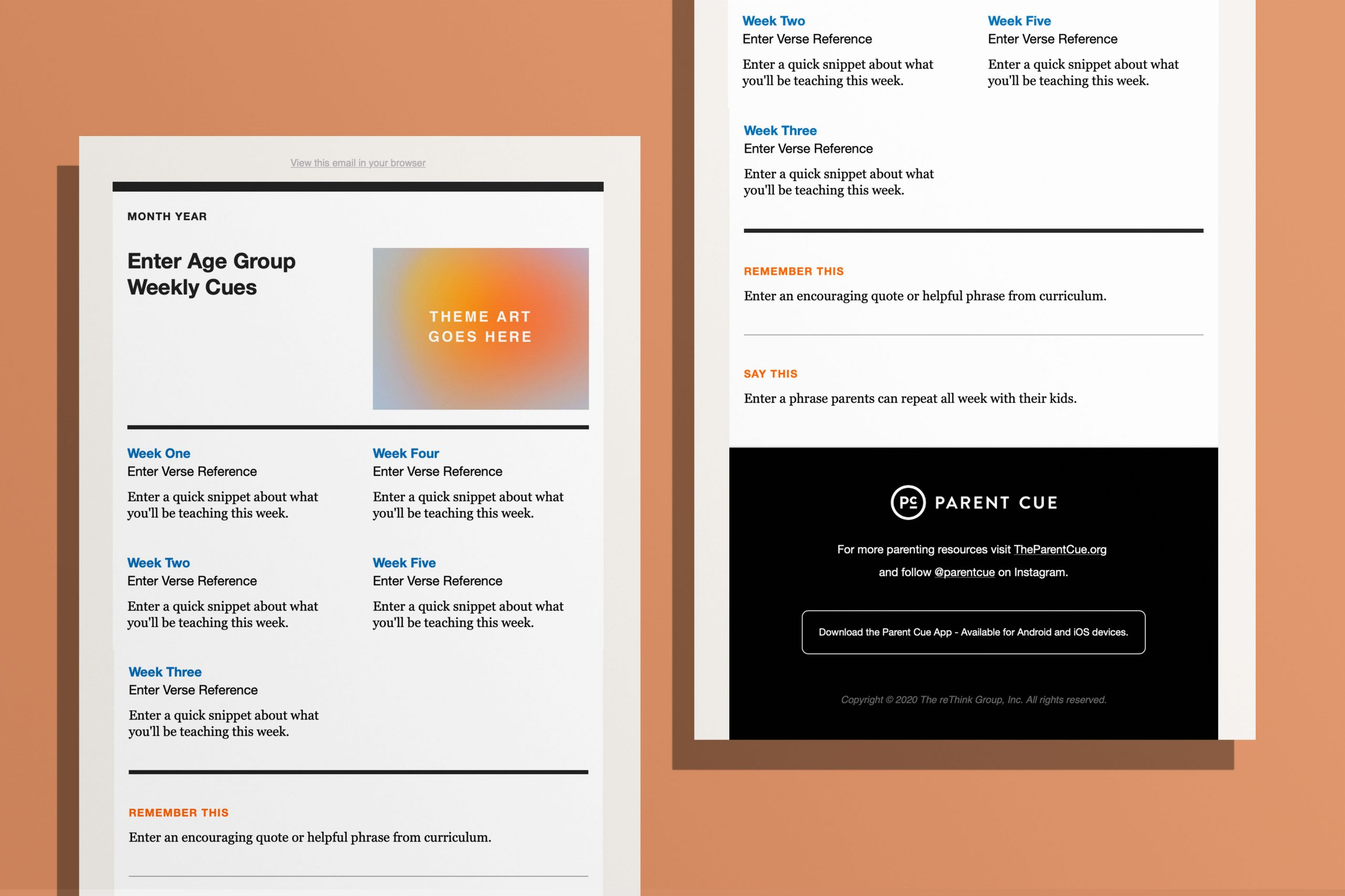 In both a pdf and powerpoint format to make it more user friendly! Parent Email Template Orange Leaders
