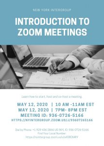 NYI: Introduction to Zoom Meetings (morning)