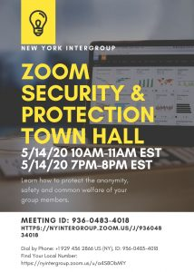 Zoom Security and Protection Town Hall (evening)
