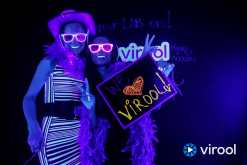 Virool Black Light Photo Booth