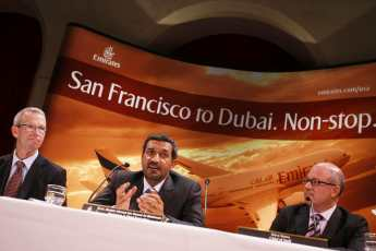 Emirates Air Inaugural Flight Press Conference