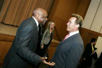 Governor Arnold Schwarzenegger with former San Francisco Mayor Willie Brown