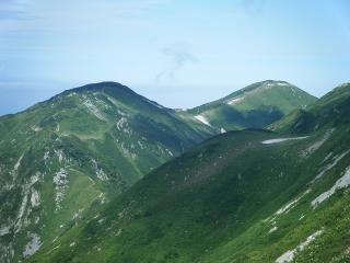 中大日と大日岳