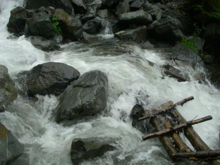 大門沢増水