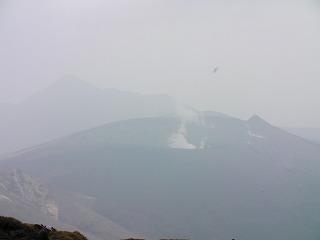新燃岳と高千穂之峰