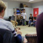 Rythme Signé percussions au lycée Saint-Louis (Saint-Nazaire) avec Gwenael Dedonder de Sysmo 1