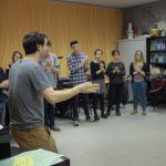 Rythme Signé percussion corporelle au lycée Aristide Briand (Saint-Nazaire) avec Gwenael Dedonder de Sysmo 1