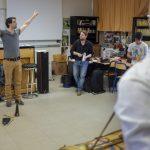 Rythme Signé percussions au lycée Aristide Briand (Saint-Nazaire) avec Gwenael Dedonder de Sysmo 1