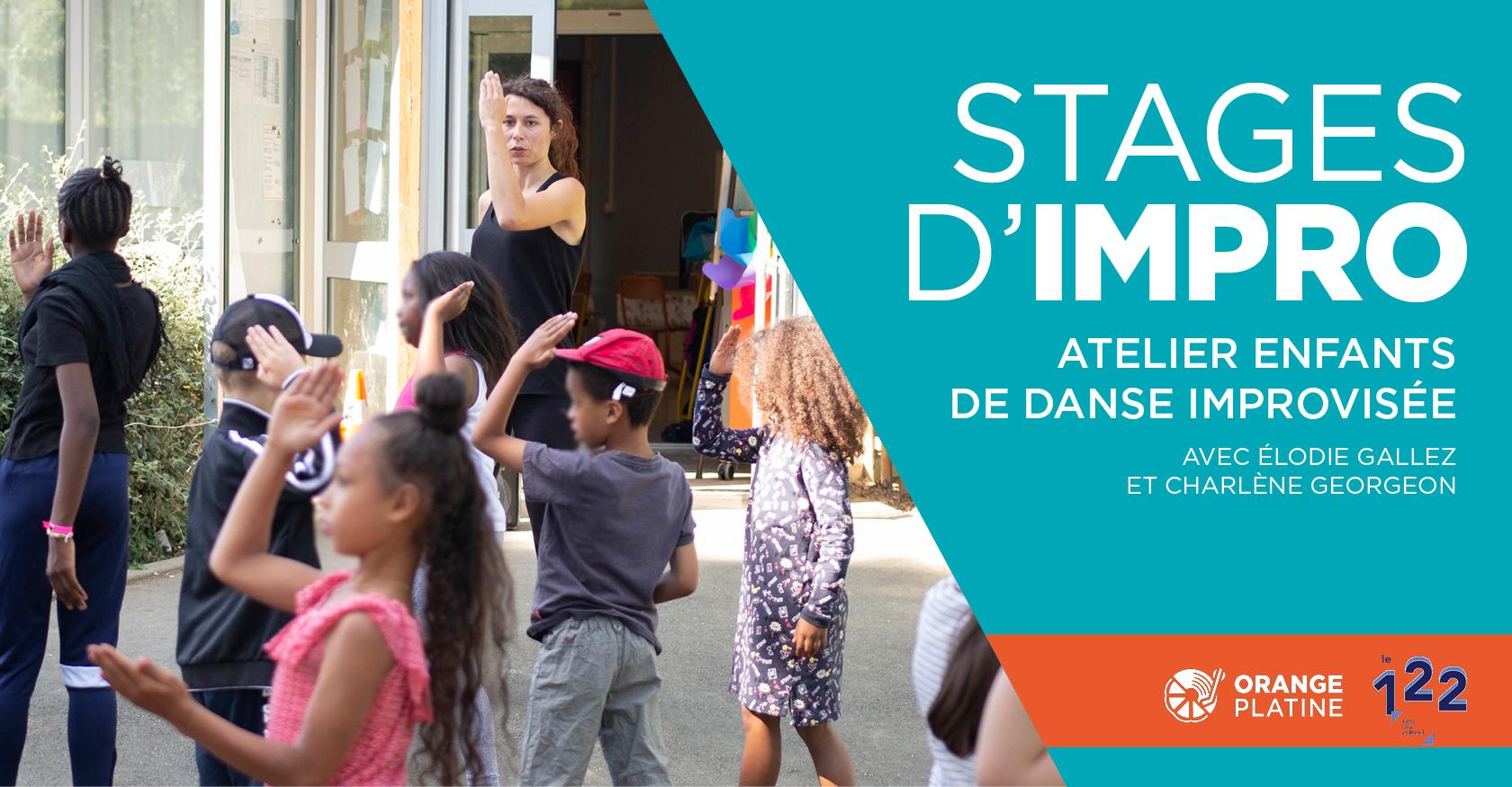 Stage impro danse enfants - Élodie Gallez et Charlène Georgeon