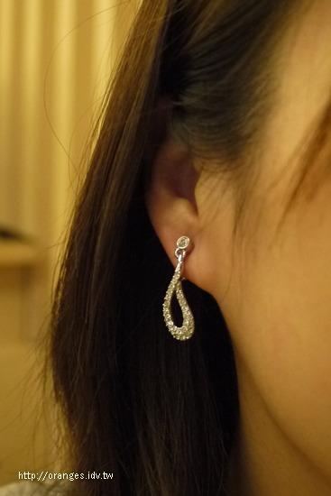 施華洛世奇水晶耳環