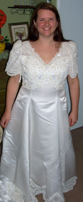 Trying on my wedding dress after 10 years!