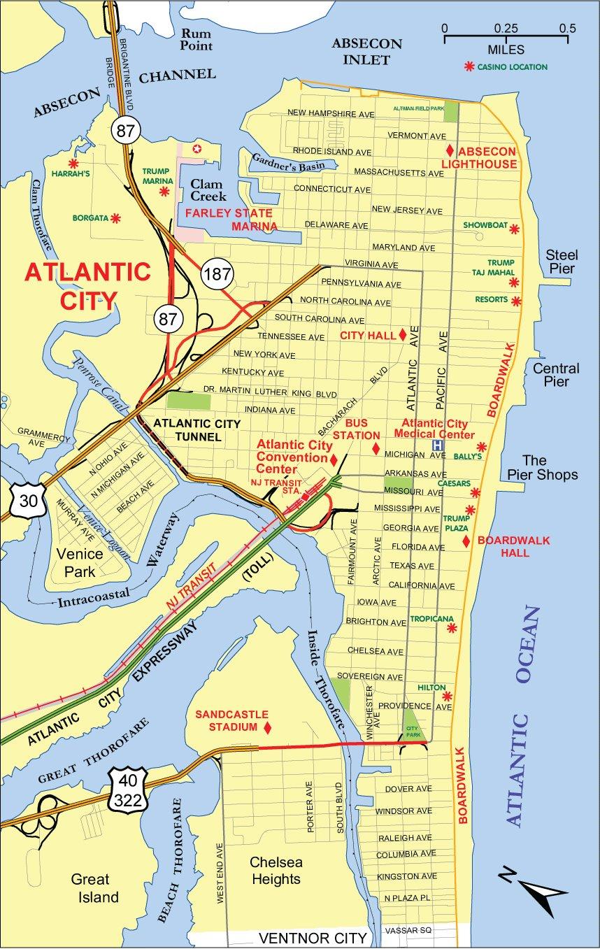 Map Of Atlantic City Casino : atlantic, casino, Large, Atlantic, Download, Print, High-Resolution, Detailed