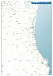 coast gold map maps print detailed res