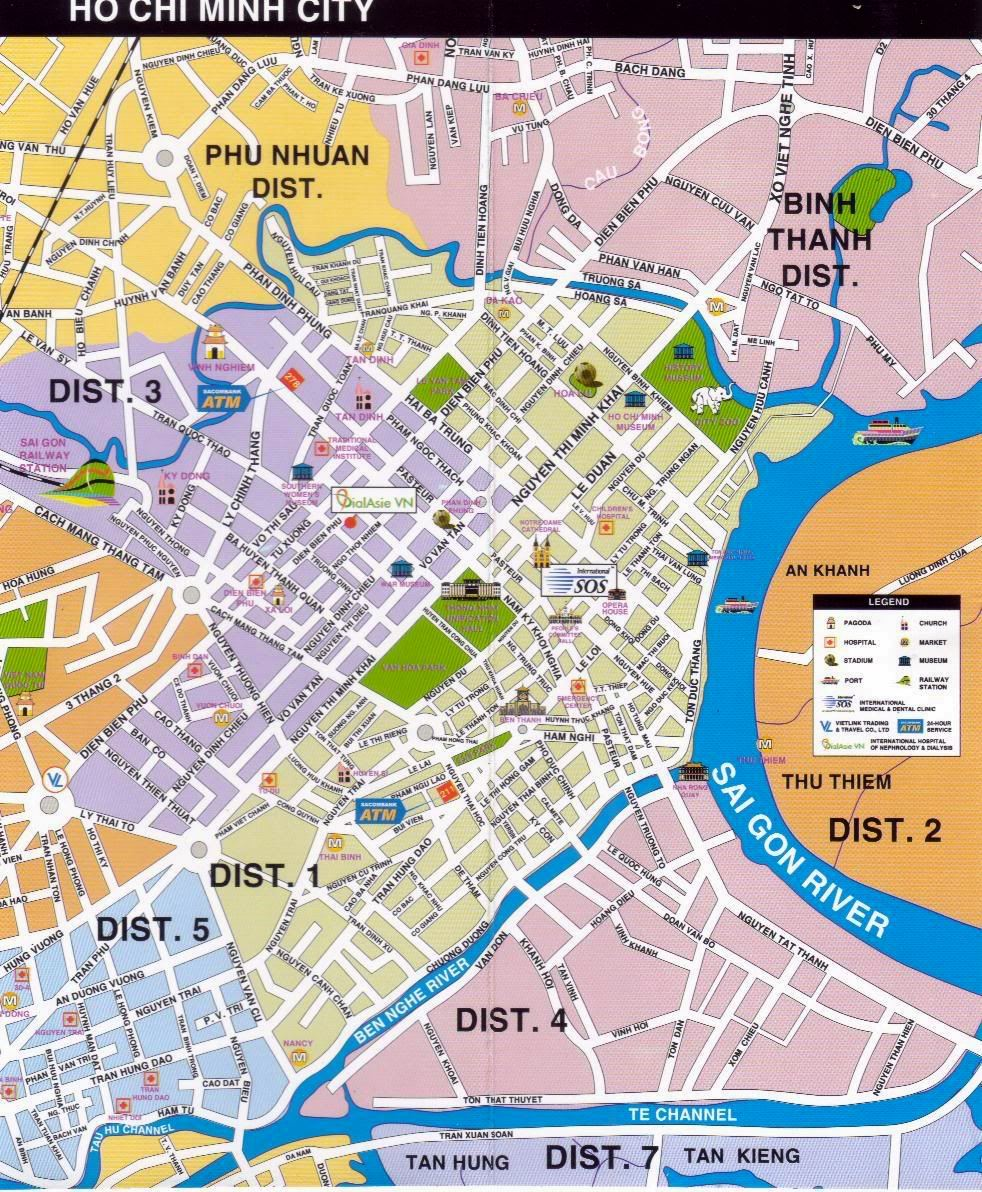 Map Of Hcmc : Large, Download, Print, High-Resolution, Detailed