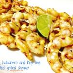 Mango habanero grilled shrimp