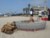 Huntington beach fire pits hours