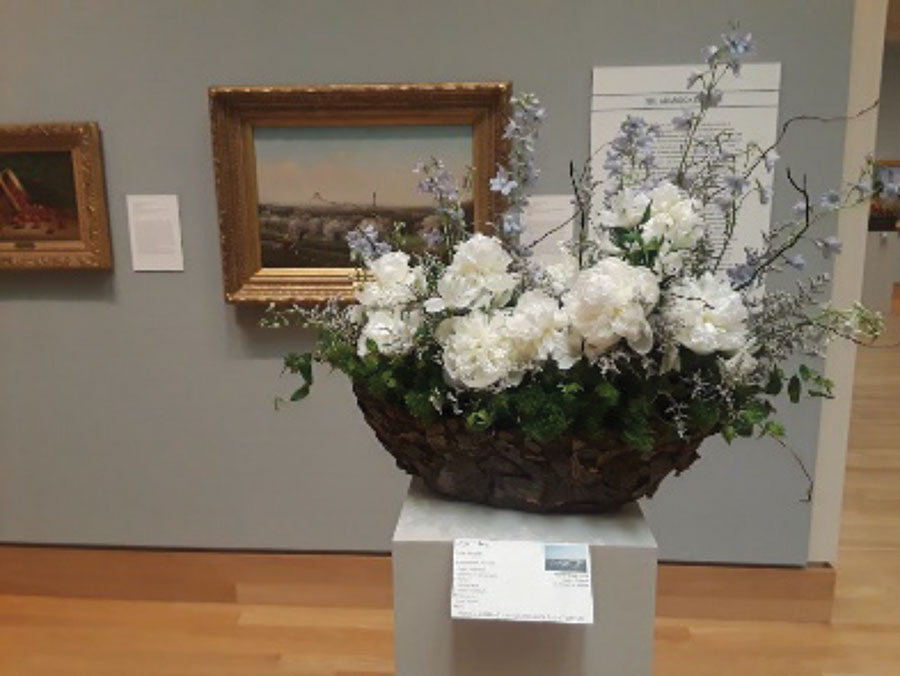 Garden Club Member Exhibits at Florence Frisold Museum