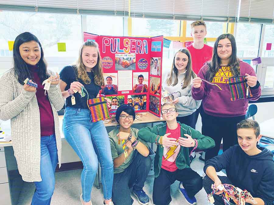 Amity Middle School Students Raise Money for Central American Students & Families