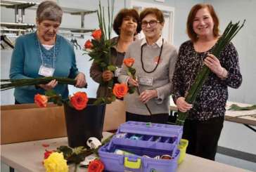 Garden Club Members Learn Floral and Leaf Manipulation