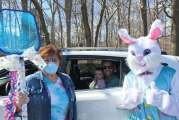 Easter Bunny Practices Social Distancing at Holly Hill Childcare