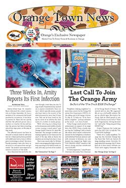 orange town news cover from october 2, 2020